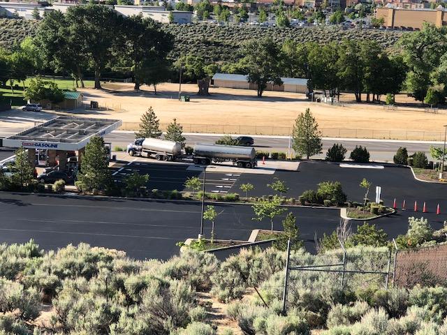 Costco Parking Lot Sealing using Pitch Black 1