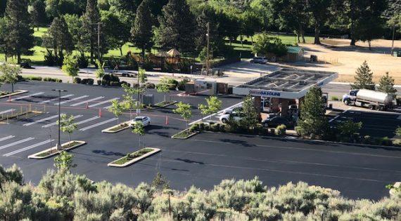 Costco Parking Lot Sealing using Pitch Black 2