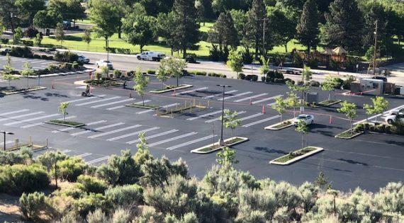 Costco Parking Lot Sealing using Pitch Black 3