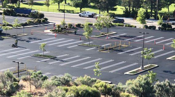 Costco Parking Lot Sealing using Pitch Black 4