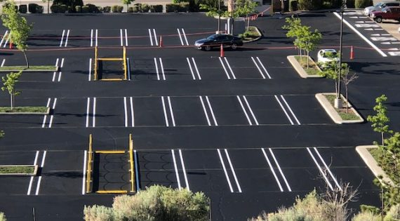 Costco Parking Lot Sealing using Pitch Black 6